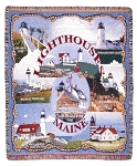 Lighthouses of Maine Throw Blanket