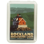 Rockland Breakwater Lighthouse Magnet by Alan Claude