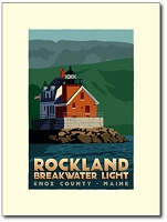 Rockland Breakwater Lighthouse - 8x10 Print