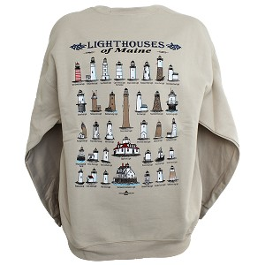 Maine Lighthouses Sweatshirt