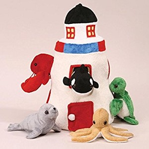 Plush Lighthouse with Sea Animals