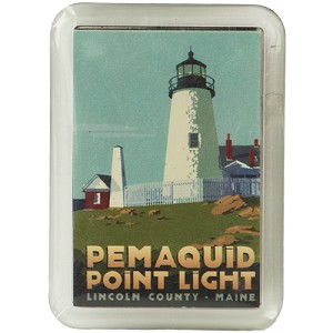 Pemaquid Point Lighthouse Magnet by Alan Claude