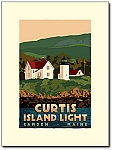 Curtis Island Lighthouse - 18x24 Limited Edition Print