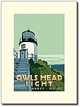 Owls Head Lighthouse - 18x24 Limited Edition Print