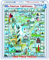 American Lighthouses <br>1000 Piece Puzzle