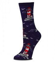 Lighthouse Seagull Socks