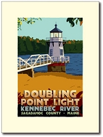 Doubling Point Lighthouse - 18x24 Limited Edition Print