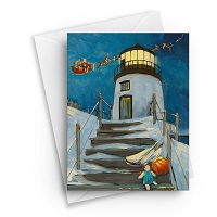 Christmas at Owls Head Lighthouse Boxed Greeting Cards