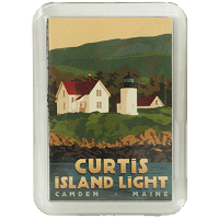 Curtis Island Lighthouse Magnet by Alan Claude