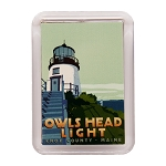 Owls Head Lighthouse Magnet by Alan Claude