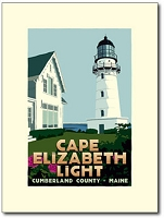 Cape Elizabeth Lighthouse - 18x24 Limited Edition Print