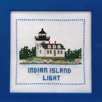 Lighthouse Counted Cross-stitch Kits - Indian Island Light