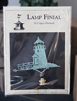Lighthouse Verdi-Gris Lamp Finial