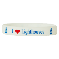 I Love Lighthouses Wristband