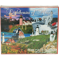 Lighthouses of Maine 550 Piece Puzzle