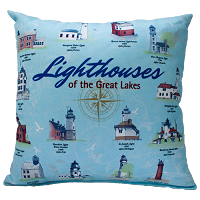 Lighthouses of the Great Lakes Pillow