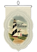 Lace Lighthouse Welcome Wall Hanging