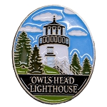 Owls Head Light Lapel Pin