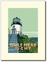 Owls Head Lighthouse - 8x10 Print