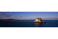 Rockland Breakwater Lighthouse Panoramic Print