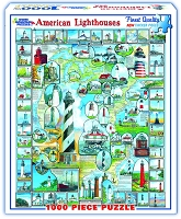 American Lighthouses 1000 Piece Puzzle
