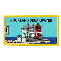 Rockland Breakwater Lighthouse Luggage Tag