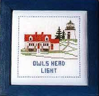 Lighthouse Counted Cross-stitch Kits - Owls Head Light