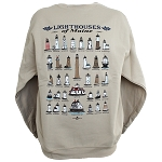 Lighthouses of Maine Sweatshirt