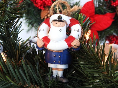 Captain with Life Ring ornament