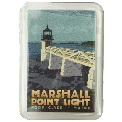Marshall Point Lighthouse Magnet by Alan Claude