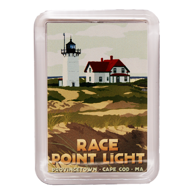 Race Point Lighthouse Magnet by Alan Claude