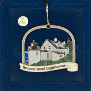 Browns Head Lighthouse Ornament