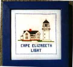 Lighthouse Counted Cross-stitch Kits - Cape Elizabeth Light