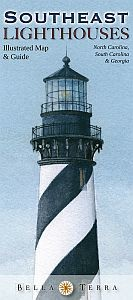 Southeast Lighthouses Illustrated Map & Guide