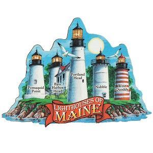 Lighthouse of Maine Magnet
