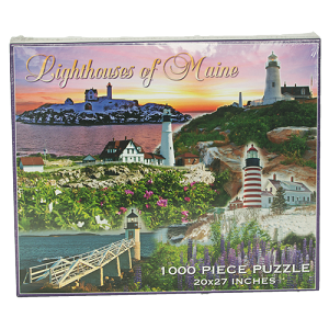 Lighthouses of Maine 1000 Piece Puzzle