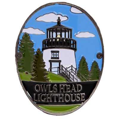 Owls Head Light Hiking Stick Medallion