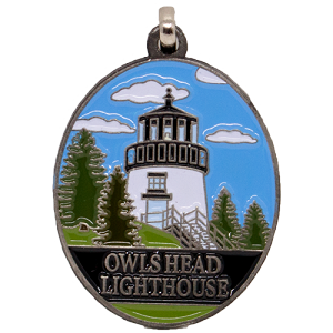 Owls Head Light Zipper Pull