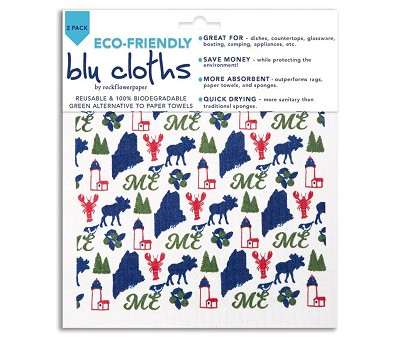 Maine Lighthouse Eco-Friendly Cloths - Set of 2