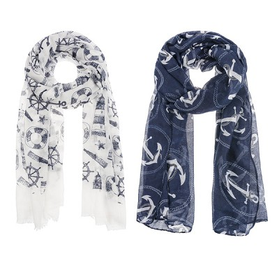 Nautical & Lighthouse Scarves