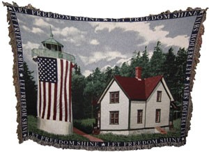 Little River Lighthouse Throw Blanket